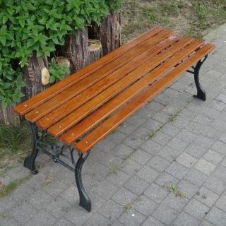 【BROTHER 兄弟牌】雙人無背鑄鐵公園長椅