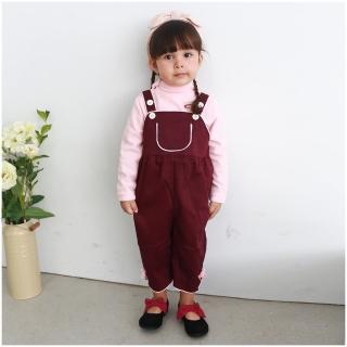 【baby童衣】女寶寶吊帶褲 硬挺素色大口袋連身褲 52258(共一色)