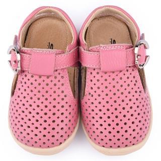 【童鞋城堡】日本娃娃 小童 超柔軟真皮透氣涼鞋(8115-粉)