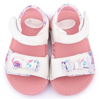 【童鞋城堡】二等兵 小童 可水洗雙黏扣輕量涼鞋(5105-白)