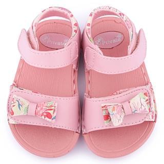 【童鞋城堡】二等兵 小童 可水洗雙黏扣輕量涼鞋(5105-粉)