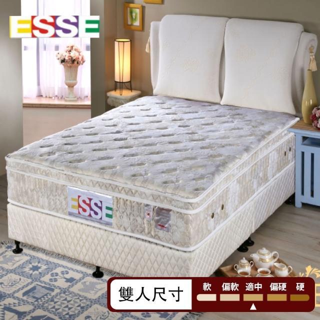 【ESSE御璽名床】三線乳膠硬式獨立筒雙人床墊
