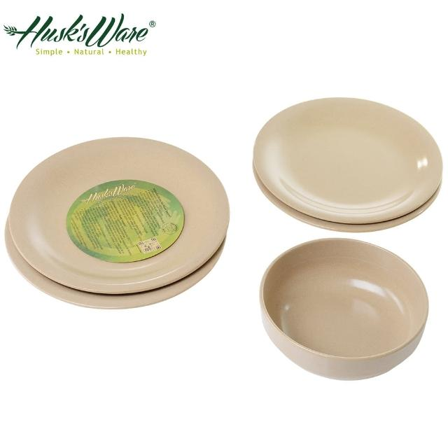 【美國Husk's ware】稻殼天然無毒環保餐盤5件組