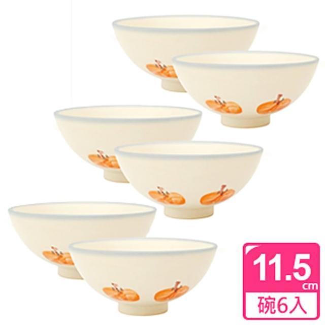 【PEKOE飲食器】紅柿圓碗‧6入