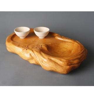 【荒木雕塑藝品】岩泉瓔珞花語(泡茶盤)