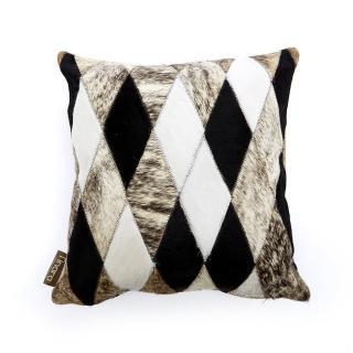 【finara費納拉】皮草時尚-斯德哥爾摩牛皮拼貼抱枕