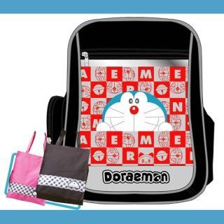 【哆啦A夢】MIT 元氣護脊鏡面書背包+MIT手提萬用袋(DO3)
