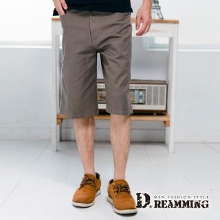 【Dreamming】超輕薄百搭伸縮七分休閒短褲(卡其)