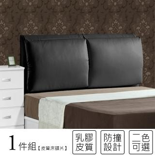 【KIKY】紅色情深皮質靠枕5尺床頭片(紅/黑/白)