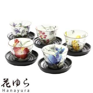 【日本和藍瓷器】花朵系列煎茶杯組(美濃燒)