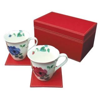 【日本和藍瓷器】律動馬克雙杯組(美濃燒)