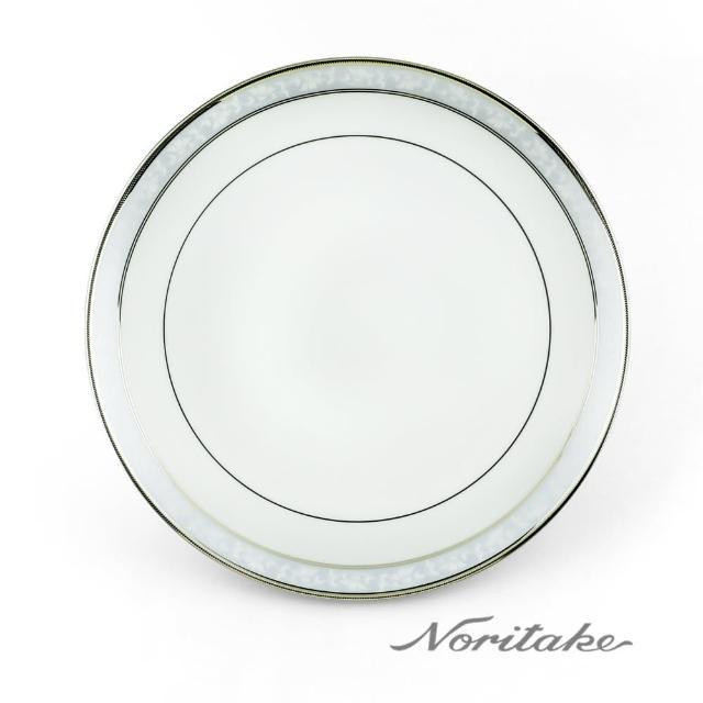 【NORITAKE】花舞春風銀邊淺圓盤(銀-27cm)