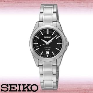 【SEIKO 精工】送禮首選_藍寶石水晶_石英女錶_錶殼2.6公分(SXDF57P1)