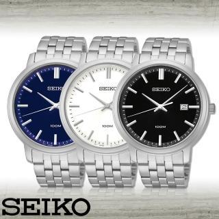 【SEIKO 精工】經典款中性錶_錶殼4.4公分(SUR105P1_SUR107P1_SUR109P1)