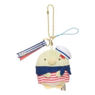 【San-X】角落公仔海洋遊戲系列毛絨公仔吊飾(企鵝君)