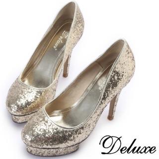 【Deluxe】焦點閃耀‧精粹亮片高跟鞋(金色)