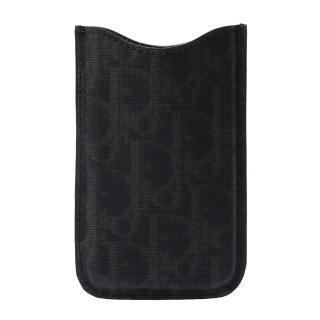 【Christian Dior】經典織紋Iphone Case Dlo手機套(黑968-BLK-GREY)