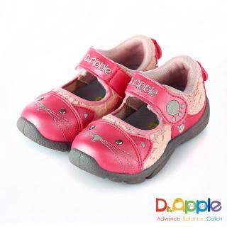 【Dr. Apple 機能童鞋】可愛喵咪透氣涼童鞋(粉)