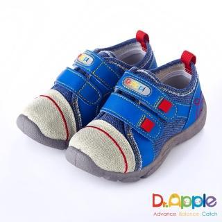 【Dr. Apple 機能童鞋】MIT微笑蘋果帥氣牛仔童鞋(藍)