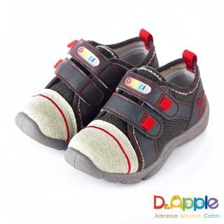【Dr. Apple 機能童鞋】MIT微笑蘋果帥氣牛仔童鞋(灰)