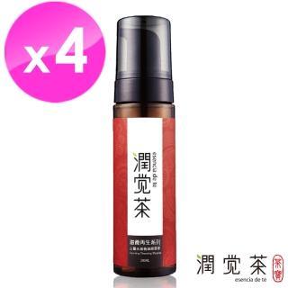 【茶寶 潤覺茶】白薑花滋養潔顏慕斯200ml(4瓶組)