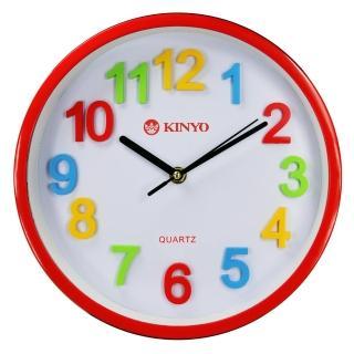 【KINYO】立體彩字掃描靜音10吋掛鐘(CL-128)