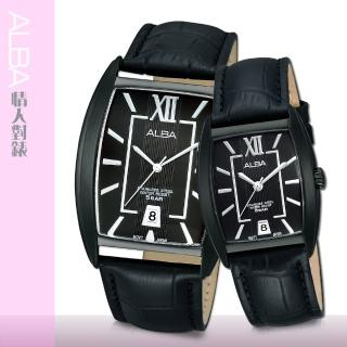 【SEIKO 精工 ALBA 系列】甜蜜浪漫石英對錶(AS9793X1+AG8469X1)