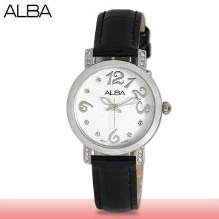 【SEIKO 精工 ALBA 系列】送禮首選_石英晶鑽指針女錶_鏡面2.5公分(AG8453X1)