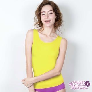 【安吉絲】莫代爾纖維.涼感親膚舒適免罩內衣.內搭背心(黃色)