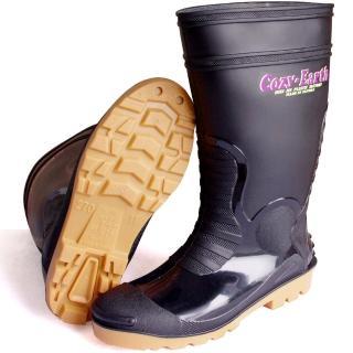 一體成型時尚中筒雨靴/雨鞋(黑)