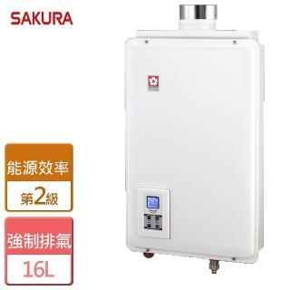 【櫻花SAKURA】SH-1680數位恆溫熱水器(16公升)