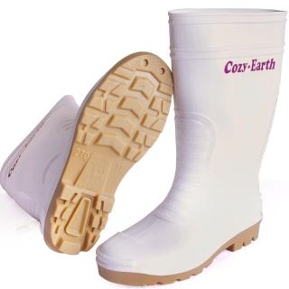 一體成型時尚中筒雨靴/雨鞋(白)