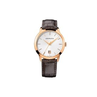 【AEROWATCH】歐風雅仕經典時尚腕錶-玫瑰金框x咖啡/40mm(A42972RO02)