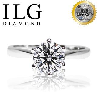 ~ILG鑽~ 八心八箭擬真鑽石戒指~ 六爪一克拉 RI005 結婚戒指求婚鑽戒^(白K 玫
