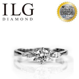 【ILG鑽】頂級八心八箭擬真鑽石戒指-幸福感動款 RI001主鑽約50分 紀念日生日禮物(白K金色)