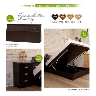 【Maslow-房東最愛】雙人5尺3件式掀床組(4色)