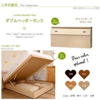 【Maslow-房東最愛】雙人5尺床頭箱+掀床(4色)