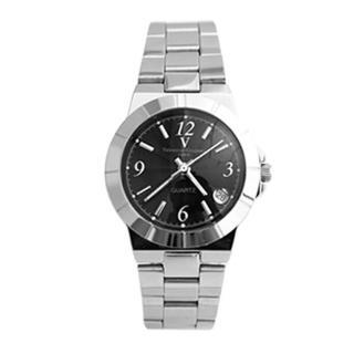 【Valentino范倫鐵諾】基本款鏡面波浪壓紋日期視窗對錶