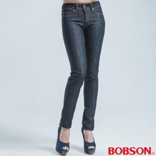 【BOBSON】中腰伸縮中喇叭褲(深灰)