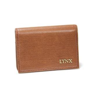 【Lynx】復古風真皮男士名片夾(兩色)