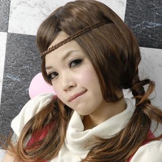 【Lady c.c.】青春活力辮子造型假髮髮帶(深棕)