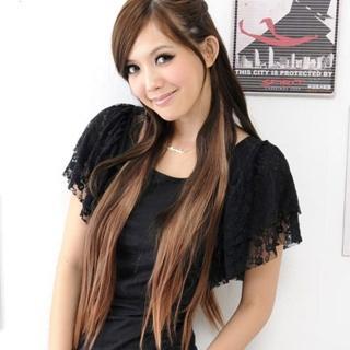 【Lady c.c.】超自然五扣式直髮接髮假髮片(亞麻)