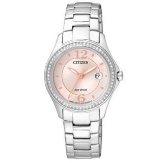 【CITIZEN】L系列光動能晶鑽璀璨女錶(粉色/FE1140-51X)