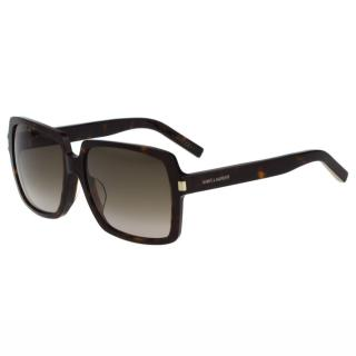 【Saint Laurent Paris】-時尚太陽眼鏡(琥珀色)