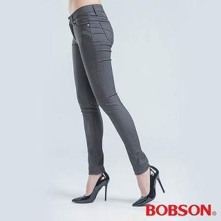 【BOBSON】緊身彈性色褲(灰色)