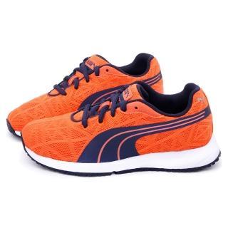 【PUMA】大童 輕量透氣慢跑運動鞋(187254-13-橘)