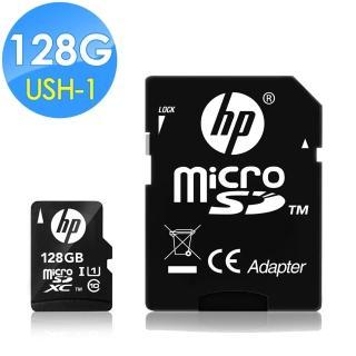 【HP 惠普】128GB UHS-1 microSDXC 記憶卡 U1 含轉卡