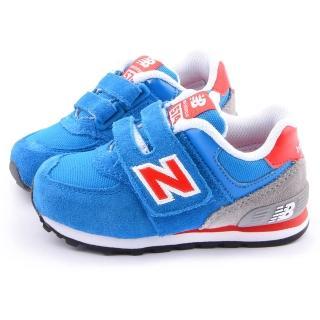 【NewBalance】小童 經典574復古運動鞋(KG574BRI-藍)