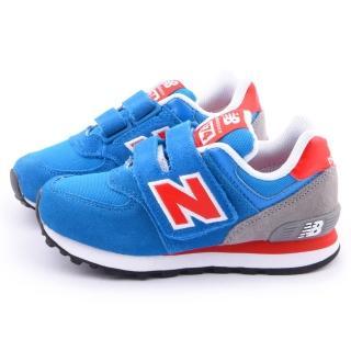 【NewBalance】中大童 經典574復古寬楦運動鞋(KG574BRY-藍)