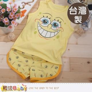 【魔法Baby】台灣製海綿寶寶正版兒童背心套裝(k41675)